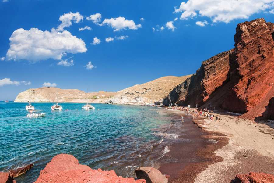 Grekaddict Archaeological Bus Tour to Akrotiri Excavations and the Red Beach