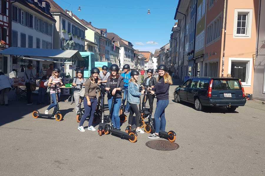 Scooter Tours Individuelle E-Scooter Tour Winterthur (für Gruppen)