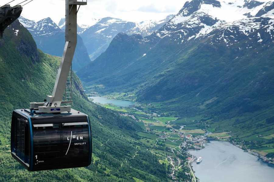Olden Adventure Loen Skylift incl transfer from Port of Nordfjordeid