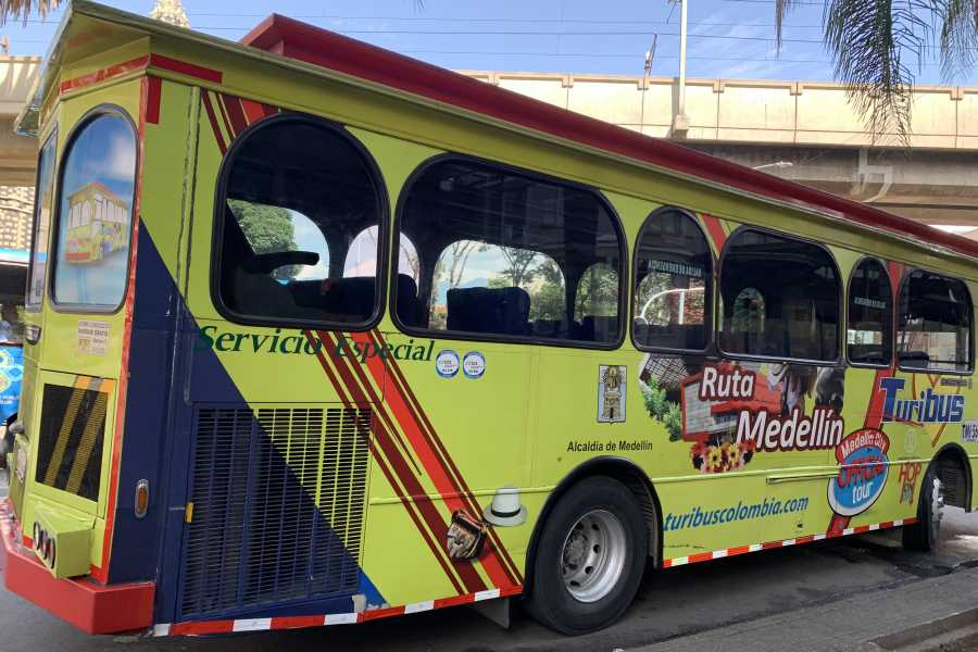 Medellin City Services Turibus pass (hop on and hop off Medellin city tour)