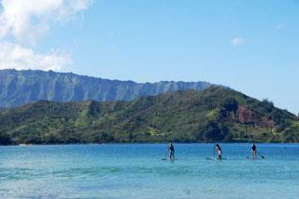 1.5 hour Stand Up Paddle Board Lesson at Wailua Bay