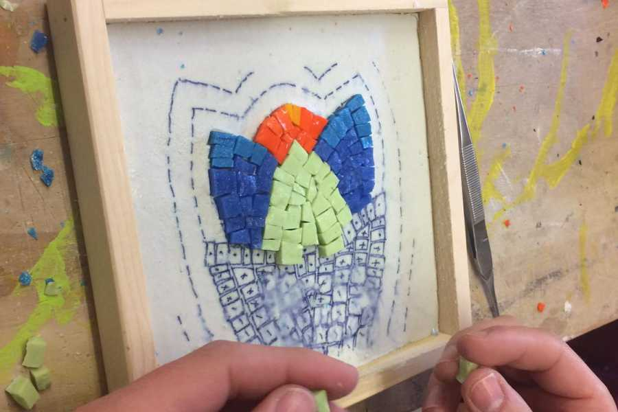 Ravenna Incoming Convention & Visitors Bureau Mosaic workshop for families
