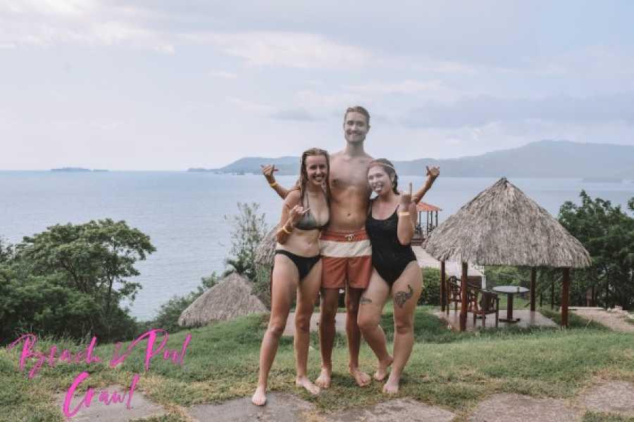 Tour Guanacaste Beach & pool crawl party bus tour