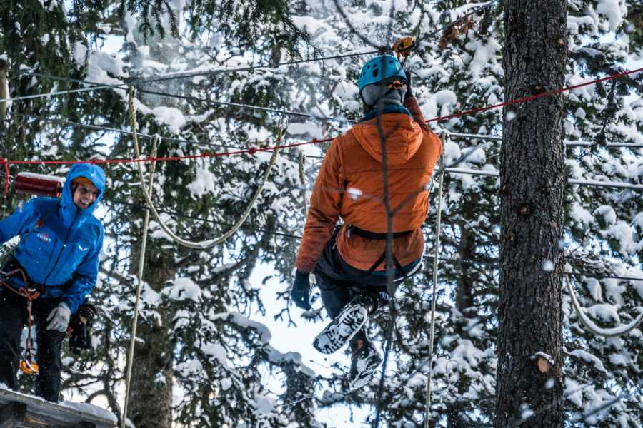 Saas-Fee Guides Zip Lines - Winter