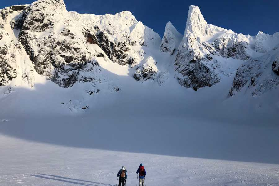 Arctic Sea to Summits Møysalen summit winter ascent.