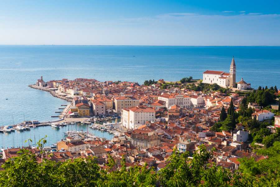 ToDoInSlovenia, brand of Kompas d.d. Sunset in Piran – Breathtaking Sunset in the Most Romantic City in Slovenia