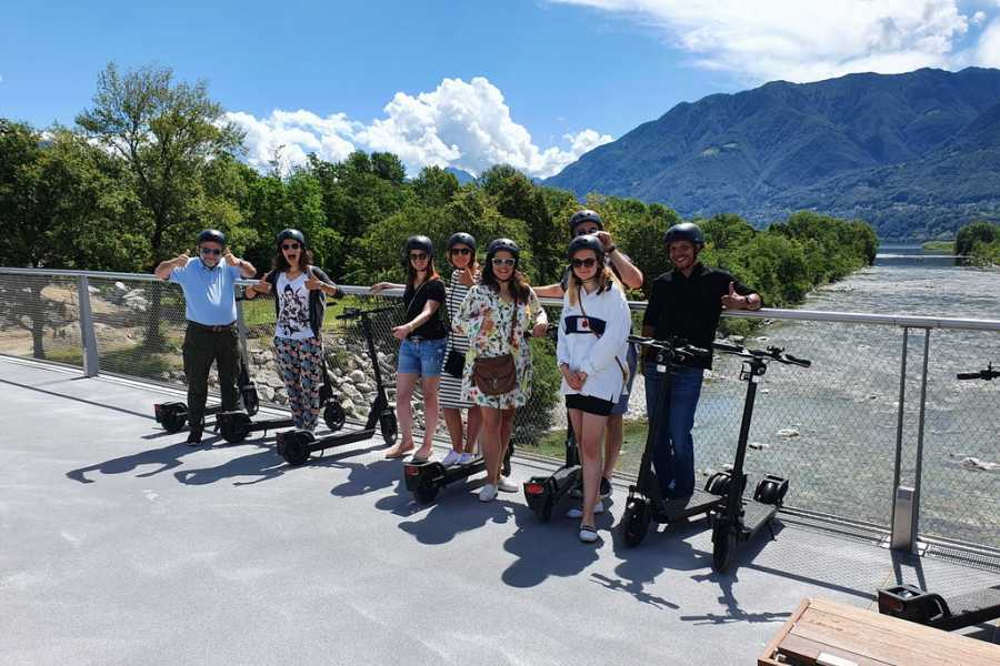 Scooter Tours Individuelle E-Scooter Tour Ascona/Locarno (für Gruppen)