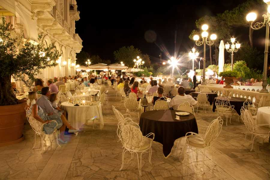 VisitRimini Grand Hotel: cena in terrazza