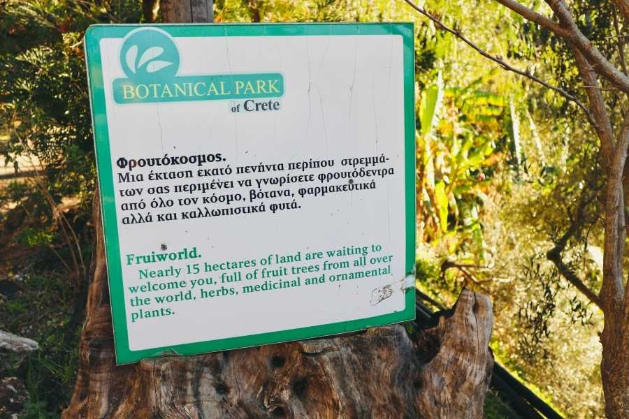 Destination Platanias BOTANICAL PARK-Private Trip with Add Ons