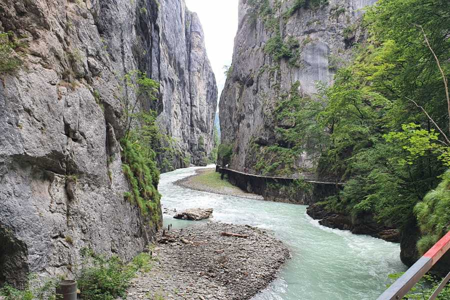 SwissTravelGuide Aare River Gorge Walk plus Lake Brienz Cruise
