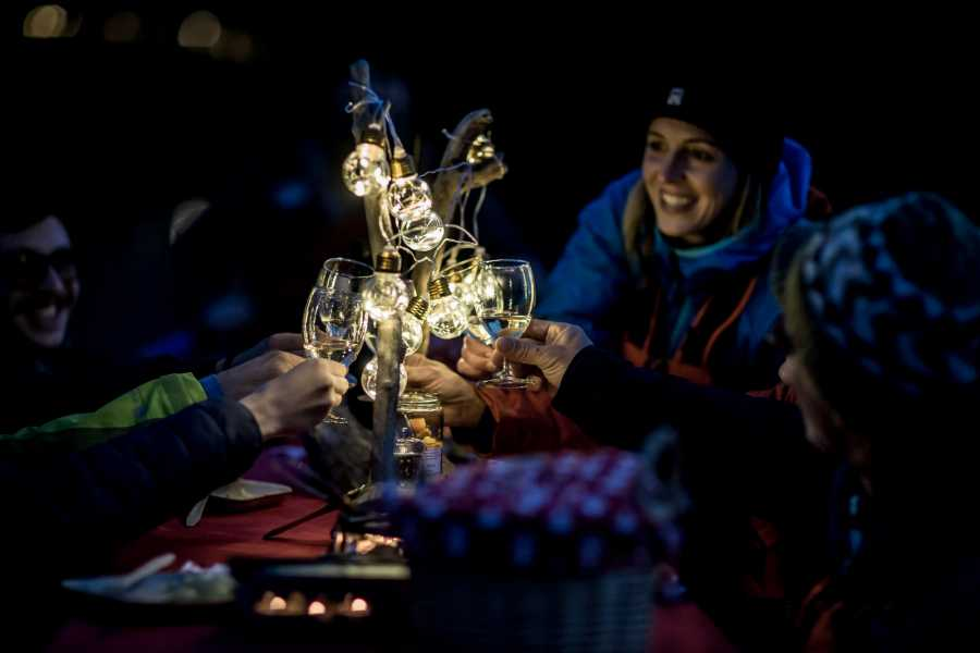 Outdoor Interlaken AG Night Rafting with onboard Raclette Dinner