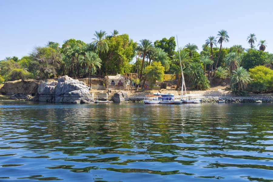 EMO TOURS EGYPT Private tour to Botanical garden with Felucca ride on Aswan Nile River
