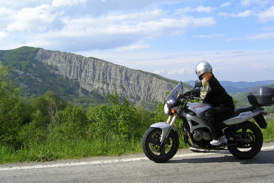VisitRimini Academy Experience:  learning how to ride a motorcycle