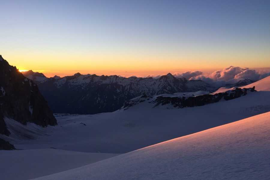 Saas-Fee Guides Allalinpass 3564m from Britannia Hut