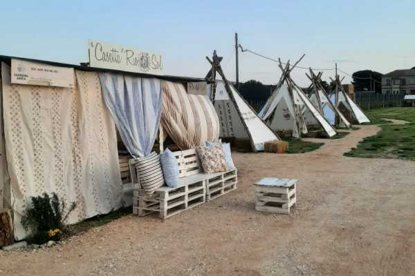 Farmer's breakfast in romagna tents