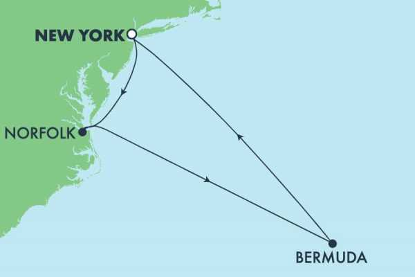 10-DAY BERMUDA & EAST COAST *NO FLY* NCL PRIMA CRUISE TOUR