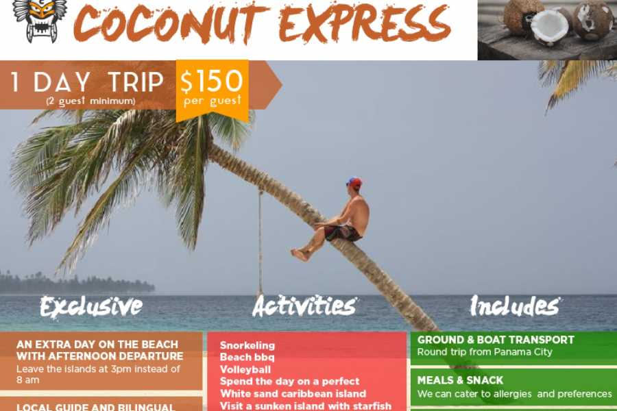 Cacique Cruiser Coconut Express Day Trip