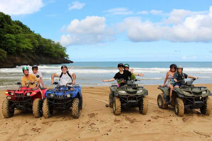 Tour Samana With Terry Shore Excursion #3a - Quad-ATV+Walk the Plank Zip Line