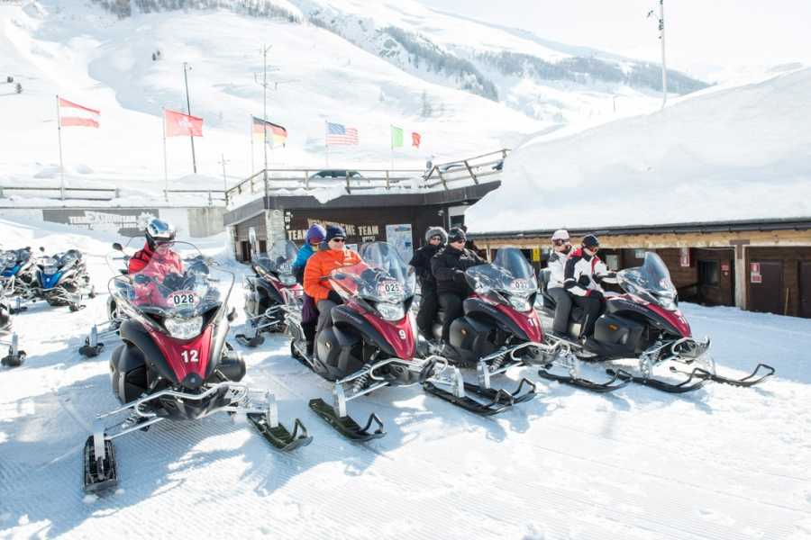 "HB Adventure Switzerland AG Snowmobile Tour ""Top Adventure"":  Splugen Pass and Lago Nero"