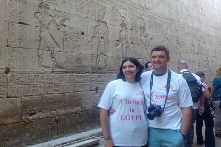 EMO TOURS EGYPT TAGESTOUR BESUCH EDFU KOM OMBO TEMPEL VON LUXOR