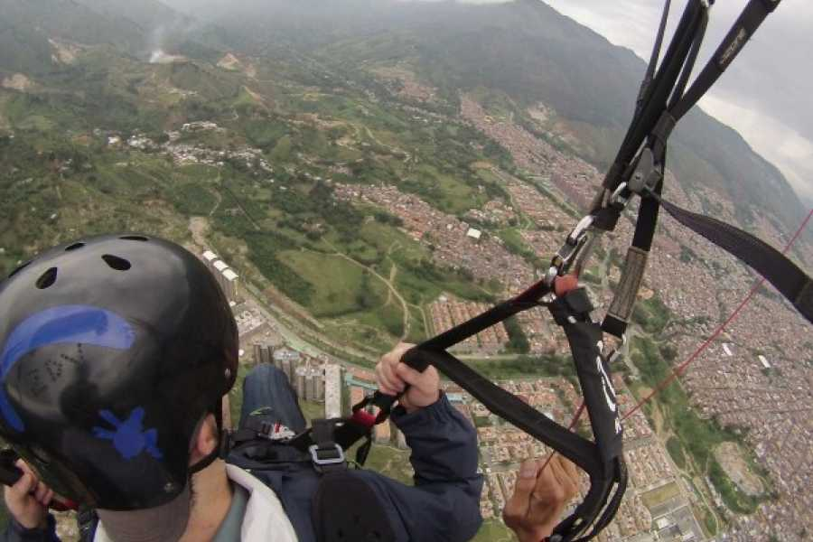 Medellin City Tours Private Medellin Paragliding and Christmas Lights Tour