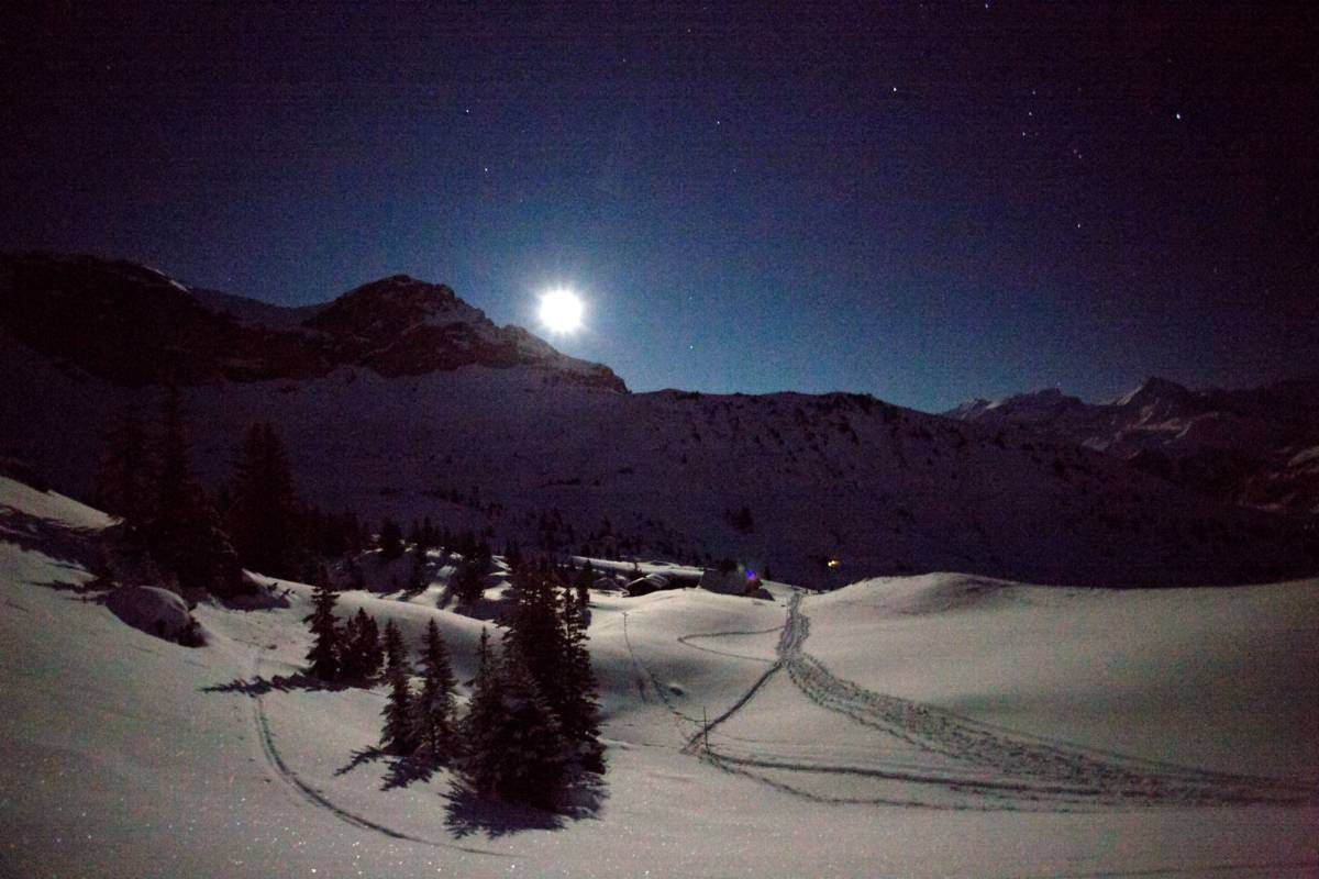 Andermatt Adventure - Crown of Alps AG Vollmond-Schneeschuhwanderung
