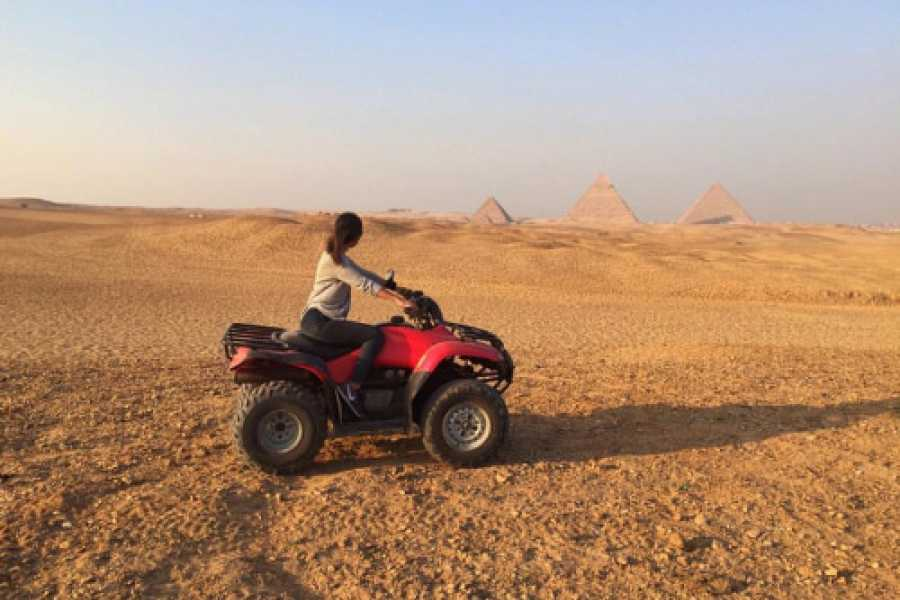 Deluxe Travel Desert Safari Quad Biking Around Pyramids of Giza
