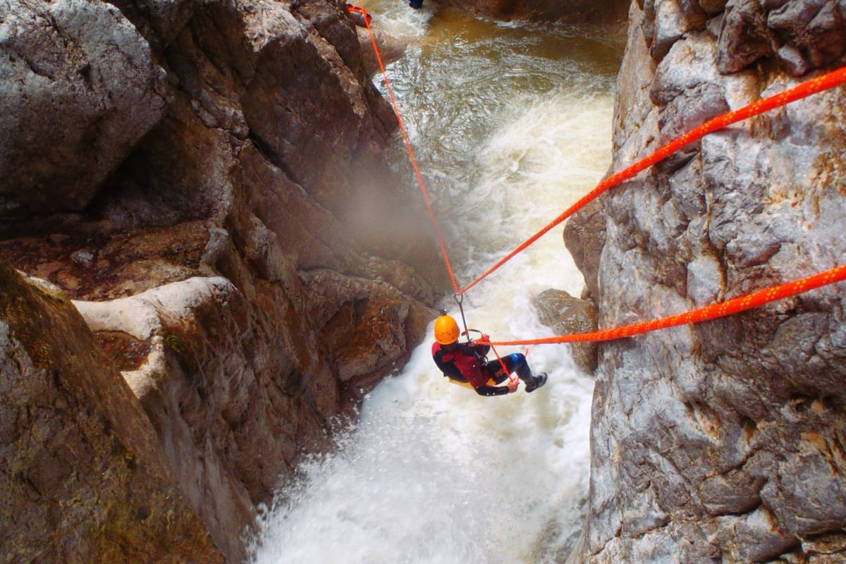Die Canyonauten Canyoning Tagestour