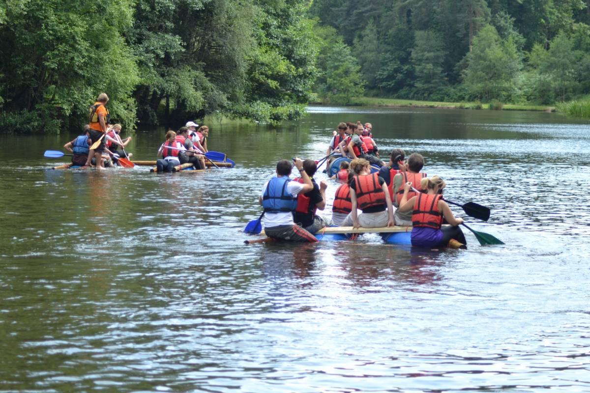 Way2go Adventures Raft Building