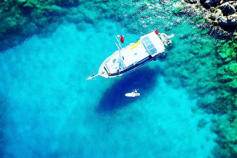 BarefootPlus Travel Mediterranean Dreaming.. Fethiye to Olympos or Olympos to Fethiye Gulet 4 day Sailing Cruise