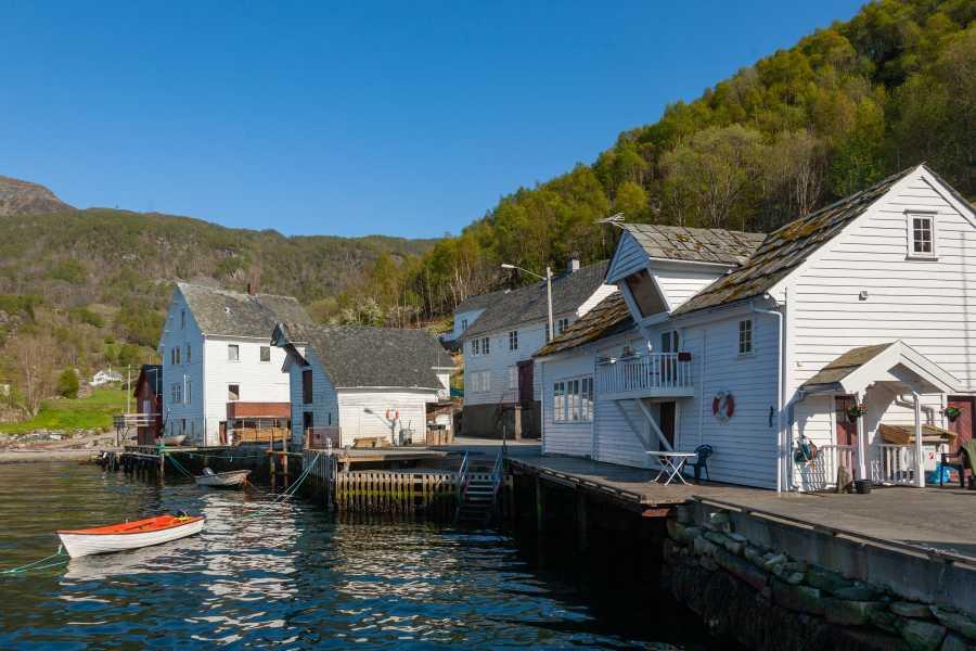 Åkrafjorden Oppleving AS Fjordrundfahrt für Gruppen: Langfoss-Wasserfall und Åkrafjord