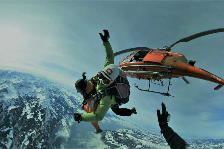 Interlaken Activities Helicopter Skydive Swiss Alps