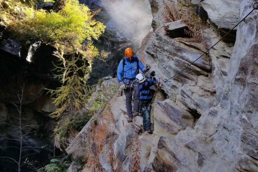 Saas-Fee Guides Gorge Alpine via ferrata