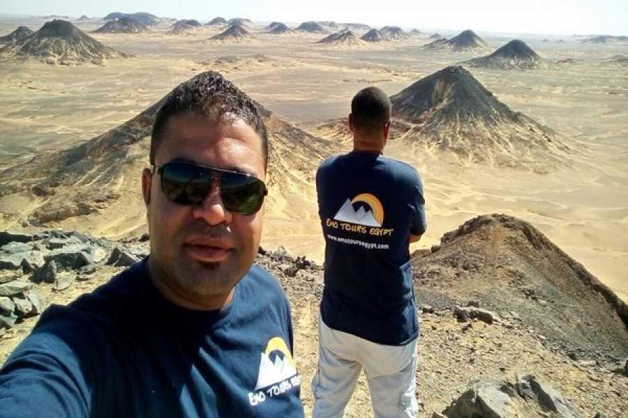 EMO TOURS EGYPT 前往巴哈利亚绿洲 的天旅行从开罗  参观黑色和白色沙漠