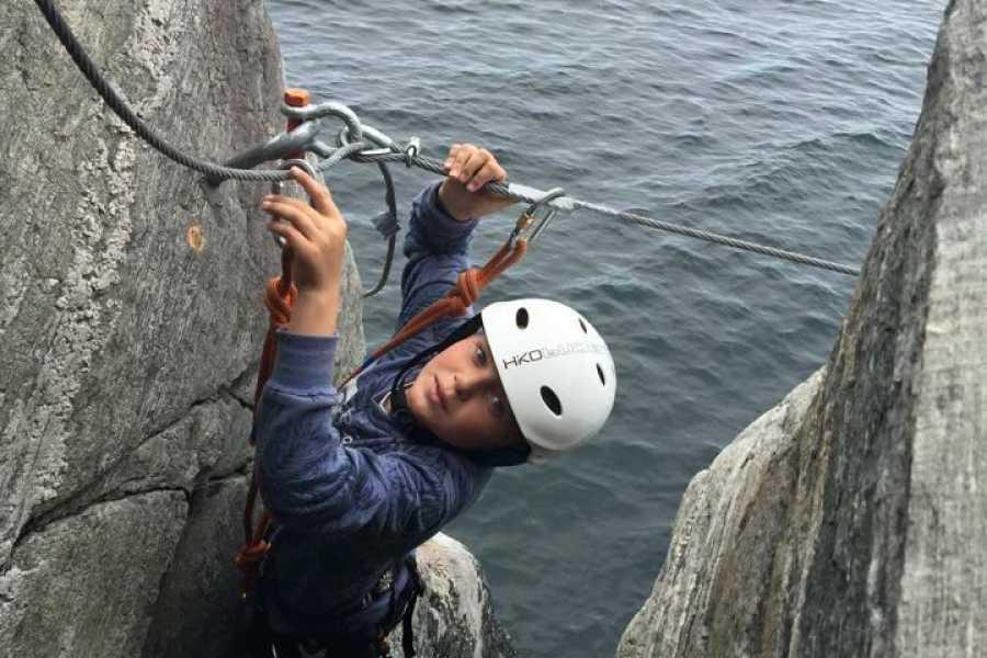 Gone Paddling Guided Via-ferrata tour in Bergen (Herdla)