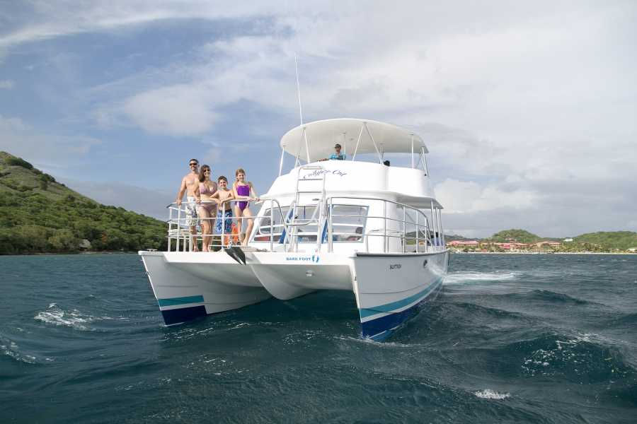 Fun 'N Sun Tours, Antigua, Caribbean CALYPSO CATAMARAN - BIRD ISLAND