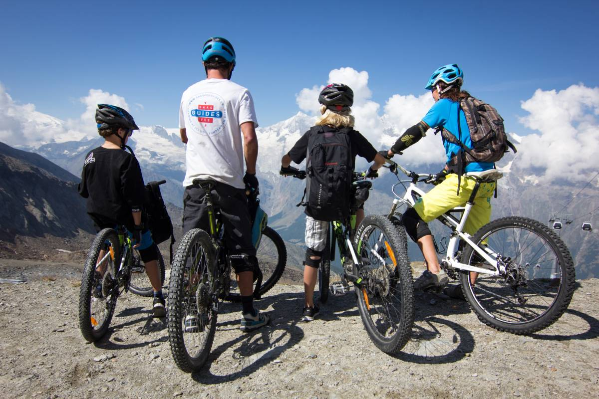 Saas-Fee Guides Mountain biking