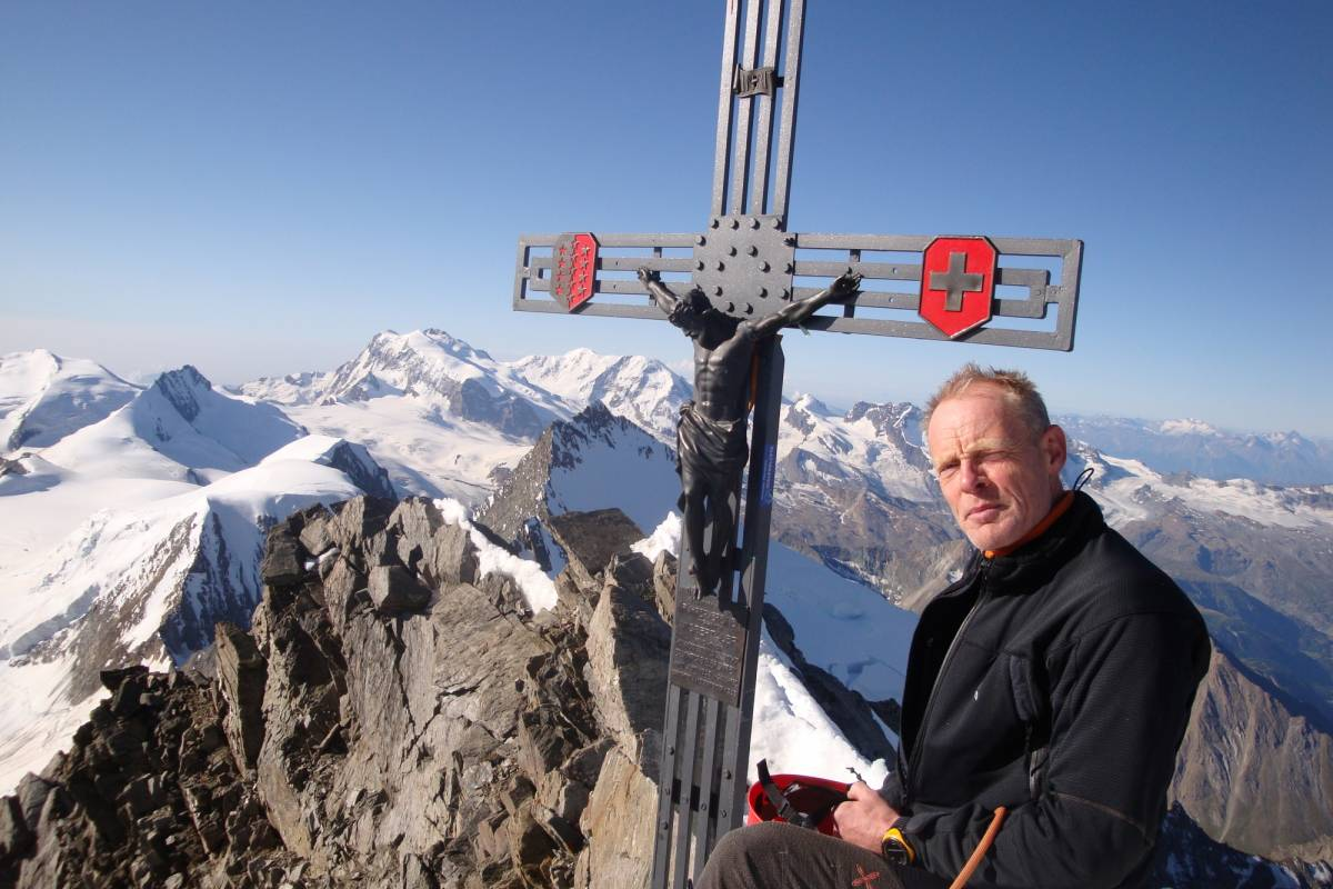 Saas-Fee Guides The Dom 4545m from the Dom hut
