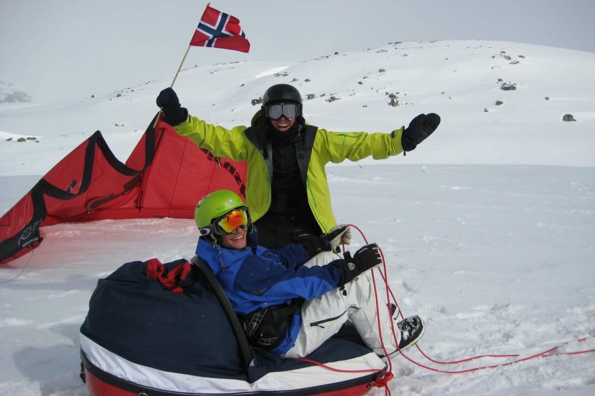 Kitesurfing.no Snowkite kurs for viderekomne