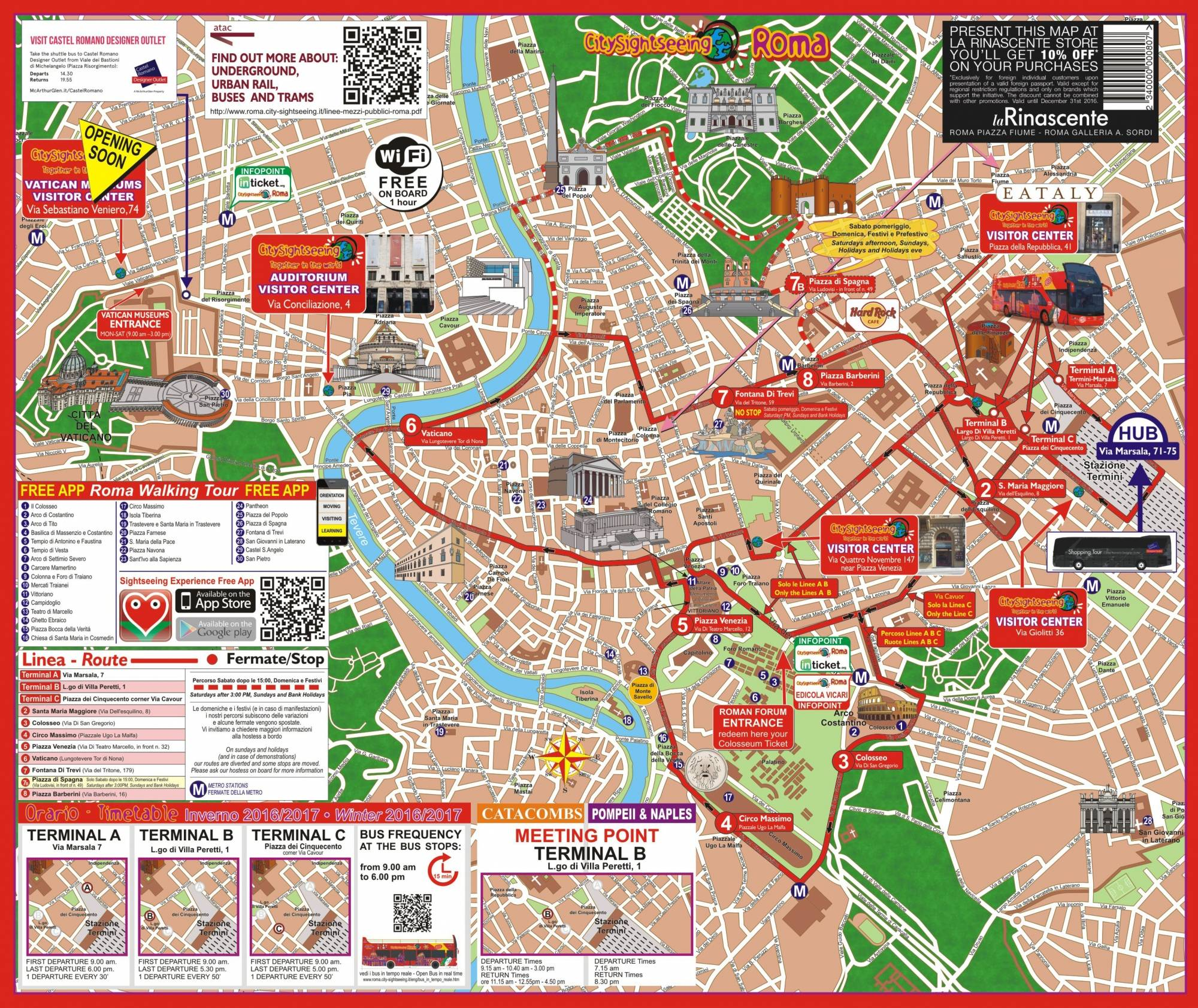 City Sightseeing Rome Map on
