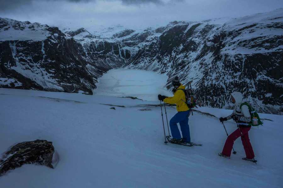 Norway Insight Trolltunga on snowshoes