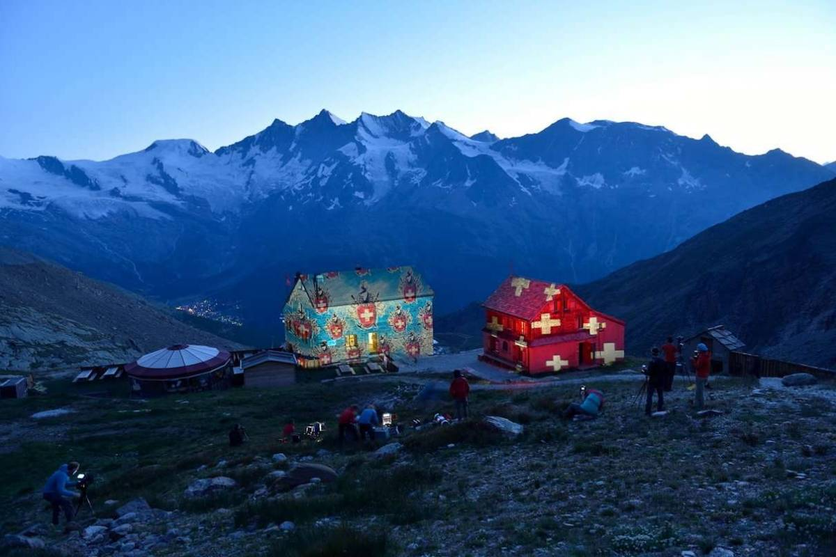 Saas-Fee Guides Full Moon Party