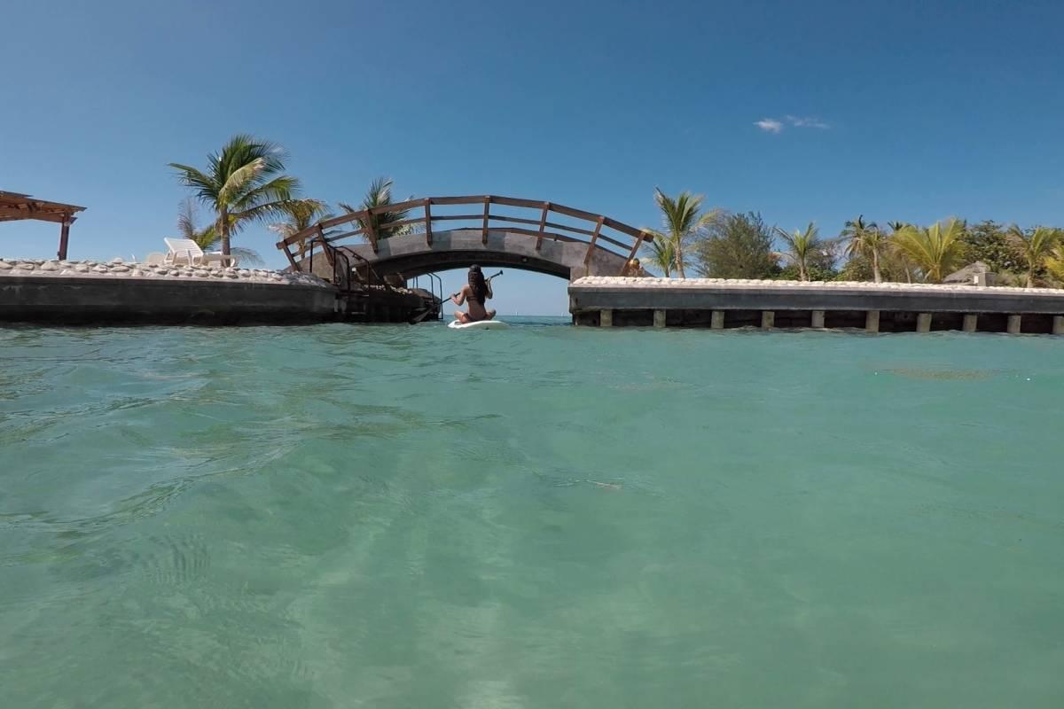 Marina Blue Haiti Paddle board tour