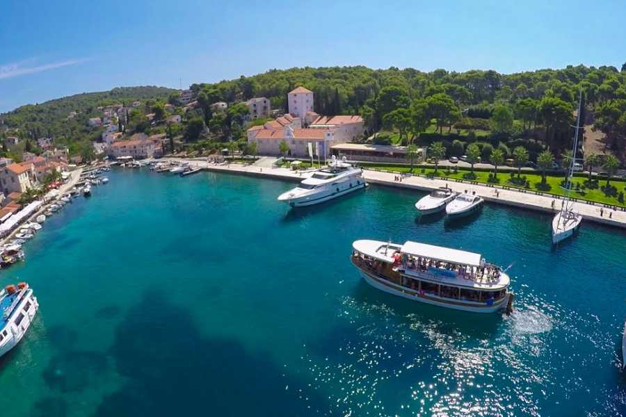 "Travel Agency"" South Tours"" Blue Lagoon Three Island Cruise from Trogir"
