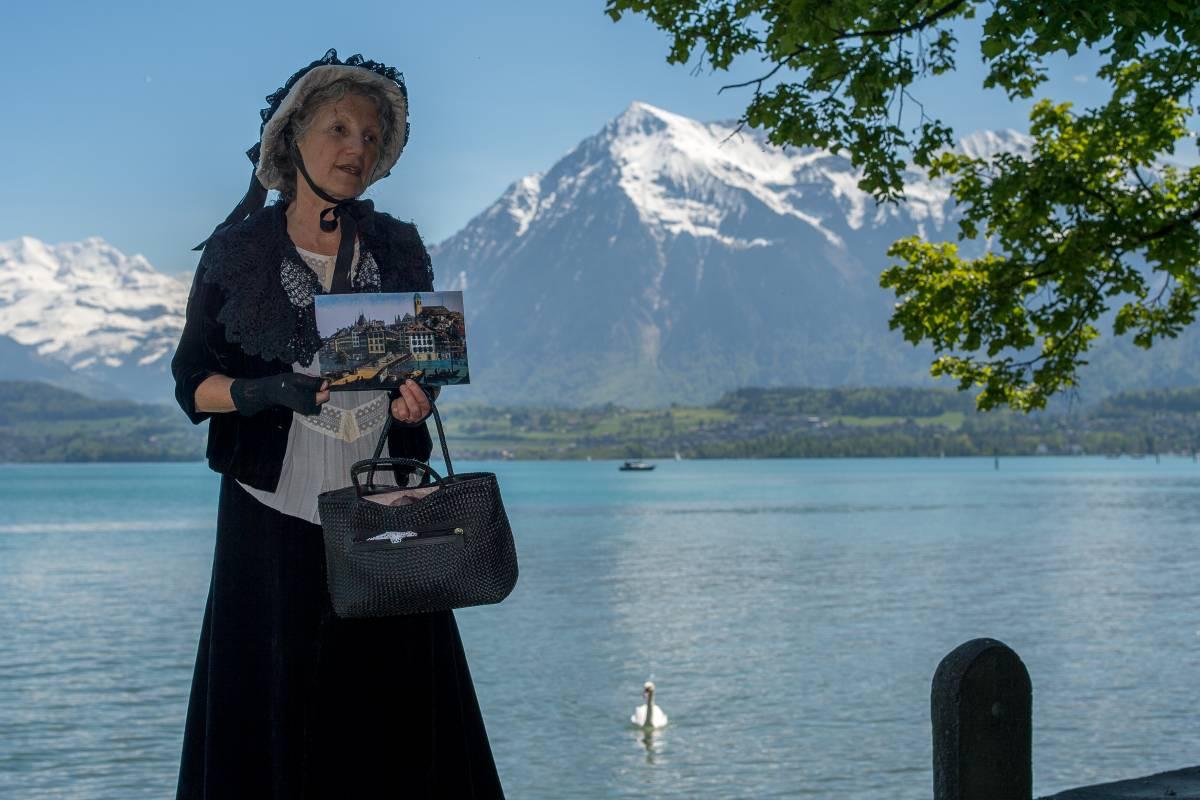 Interlaken Tourismus Stadtführung: Anna Maria Wocher und das Thun-Panorama (deutsch)