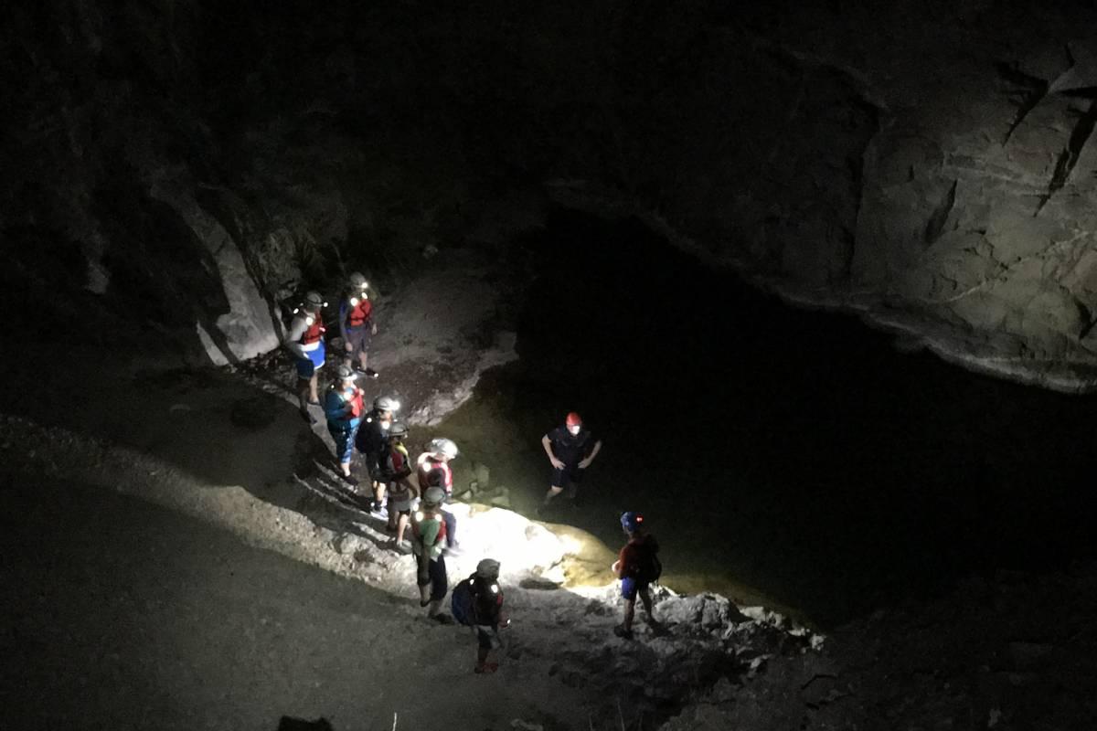Adventurati Outdoors Night Canyoning in Showka