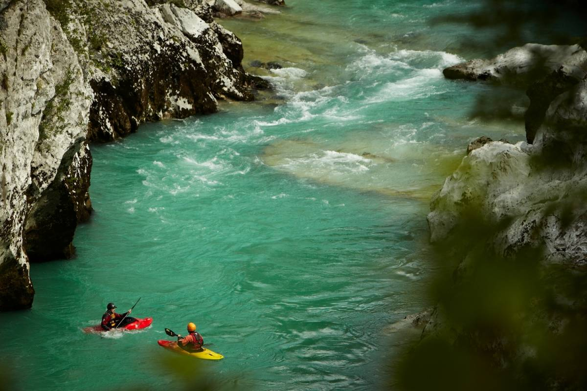 Ride around Emerald river Soča adrenalin