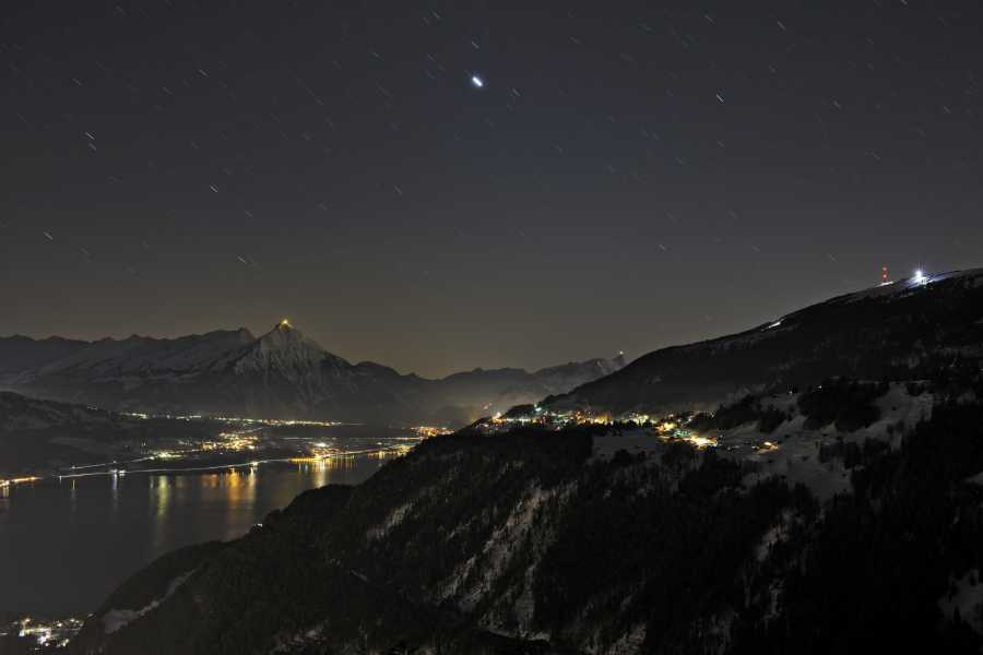 Interlaken Tourismus Starlit sledging PLUS at Niederhorn
