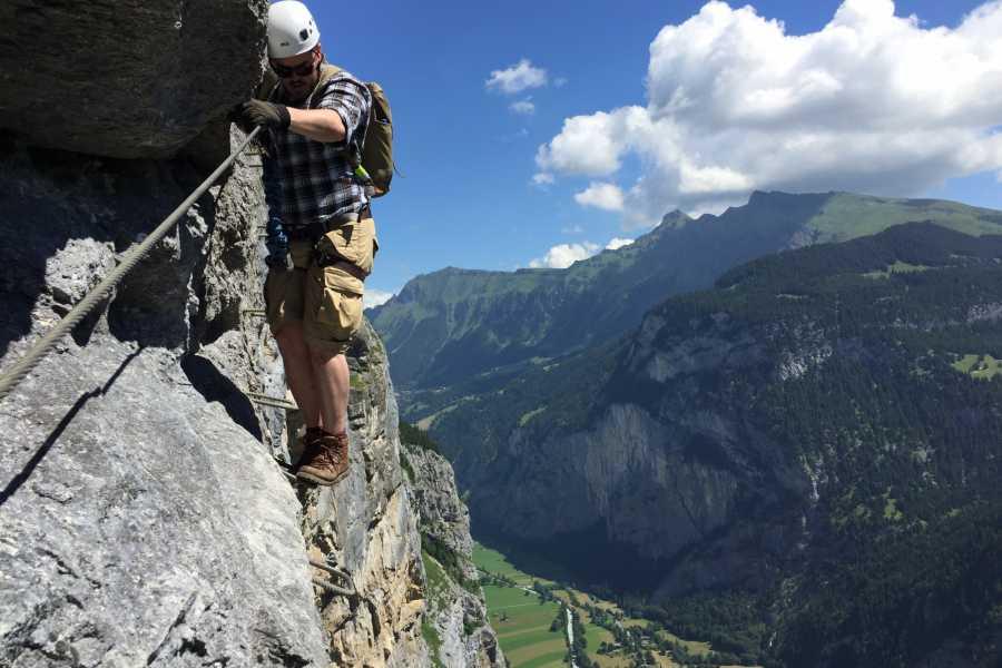 Klettersteig In English : Klettersteig mürren paragliding interlaken