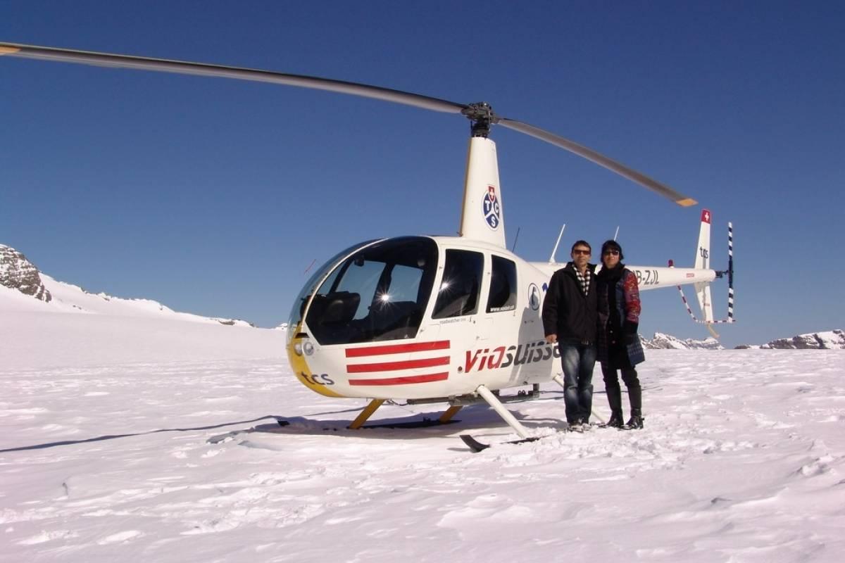 HB Adventure Switzerland AG Flug mit dem Helikopter mit Gletscherlandung